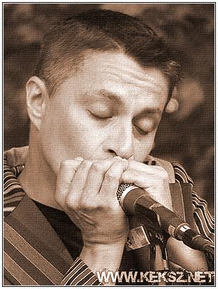 Szabó Tamás on the harmonica